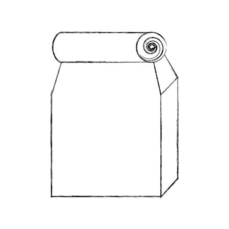 Lunch bag in paper bag vector illustration design