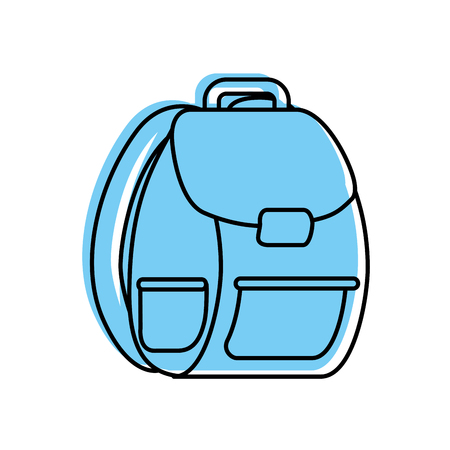 school bag isolated icon vector illustration design Stock Vector - 83172889
