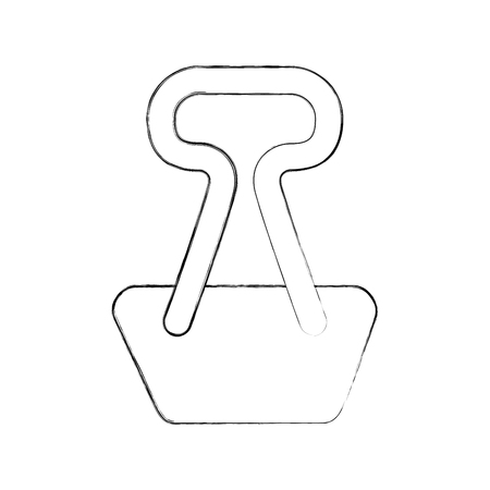 paper clip isolated icon vector illustration design