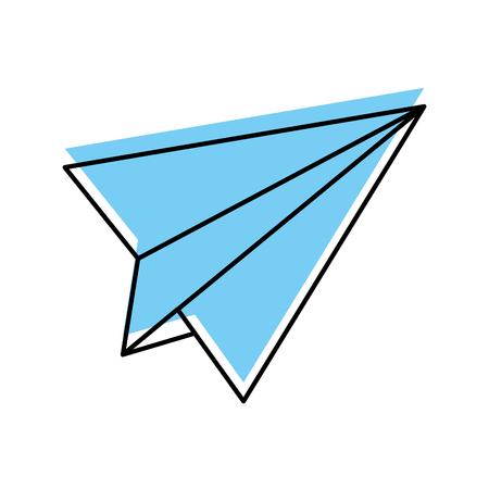 Papier vliegtuig geïsoleerd pictogram vector illustratie ontwerp Stock Illustratie