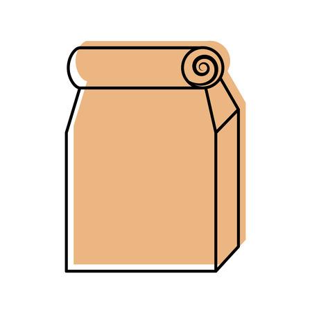 점심 가방 종이 가방 벡터 일러스트 디자인