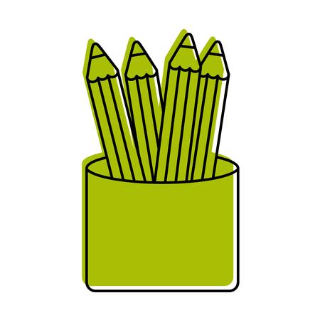 学校色分離アイコン ベクトル イラスト デザイン