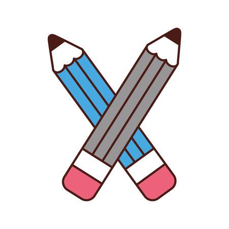 鉛筆学校供給アイコン ベクトル イラスト デザイン