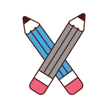 writing instruments: pencil school supply icon vector illustration design Illustration