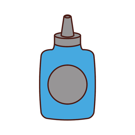 glue bottle isolated icon vector illustration design