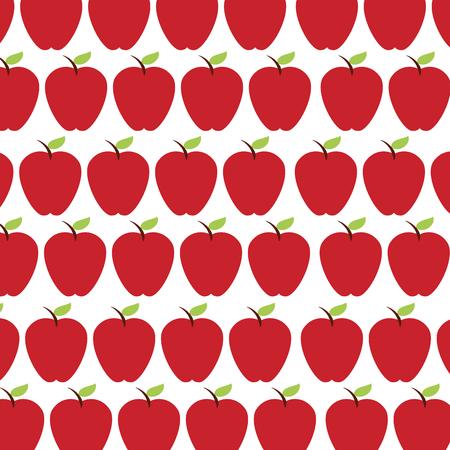 アップル フルーツ パターン背景ベクトル イラスト デザイン