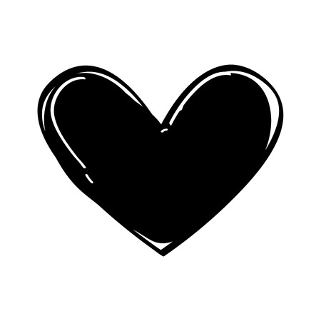 heart love black icon vector illustration design
