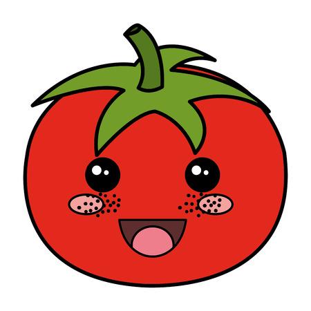tomato fresh   character vector illustration design