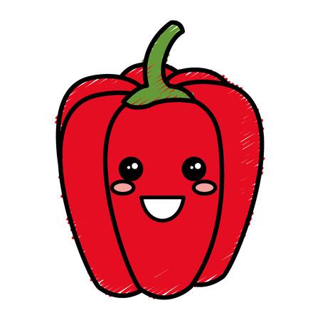 A pepper fresh kawaii character vector illustration design. Ilustração