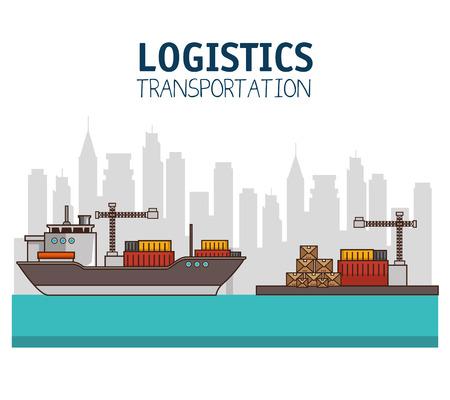 Trasporto merci e consegna logistica infographic illustrazione vettoriale illustrazione grafica Archivio Fotografico - 83177601