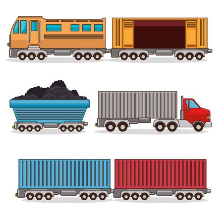 Reihe von Verkehrsmitteln Vektor-Illustration Grafik-Design