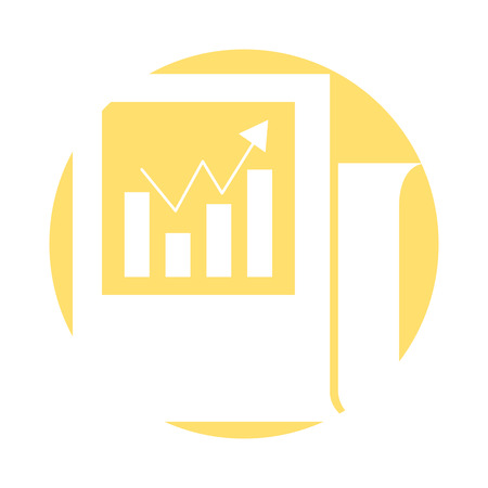 Statistical report isolated icon vector illustration design