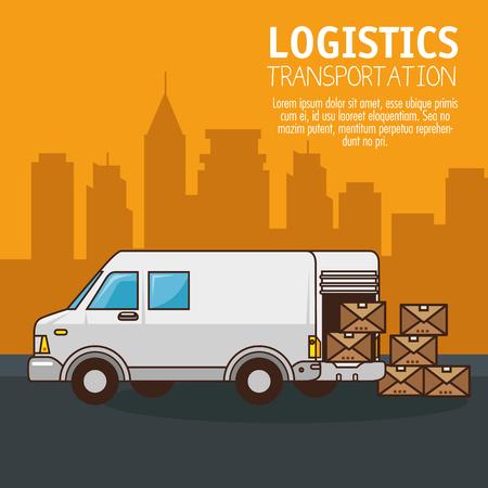 freight transportation and delivery logistic infographic vector illustration graphic design Illusztráció