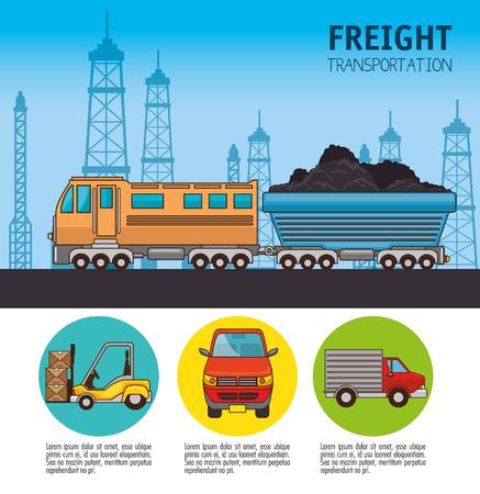 Trasporto merci e consegna logistica infographic illustrazione vettoriale illustrazione grafica Archivio Fotografico - 83178990