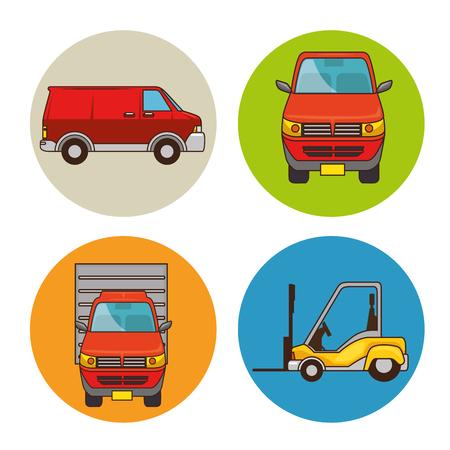 一連の輸送ベクトル イラスト グラフィック デザインの手段