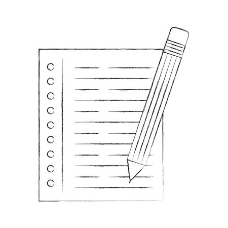 pencil school with notebook vector illustration design Ilustrace