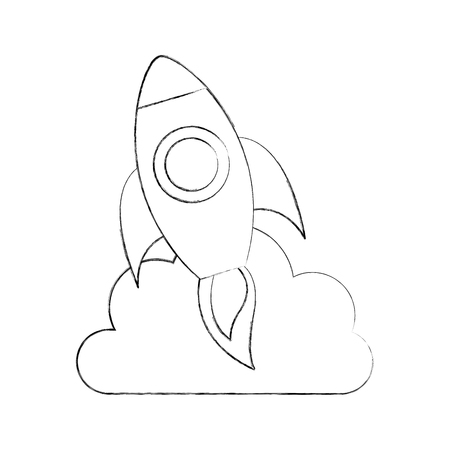 launcher: rocket launcher isolated icon vector illustration design