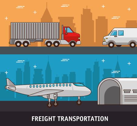 Trasporto di trasporto e consegna logistica infografica illustrazione vettoriale illustrazione grafica Archivio Fotografico - 83179094