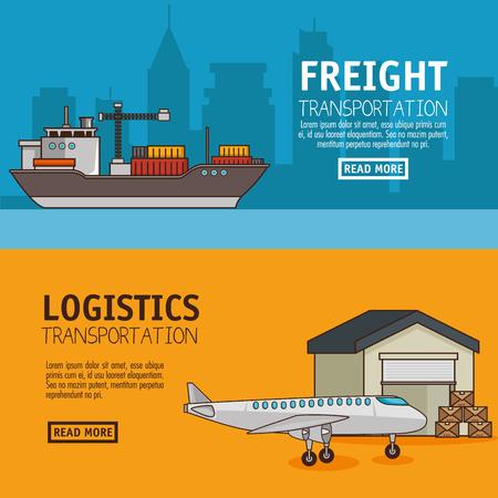 Trasporto merci e consegna logistica infographic illustrazione vettoriale illustrazione grafica Archivio Fotografico - 83179182