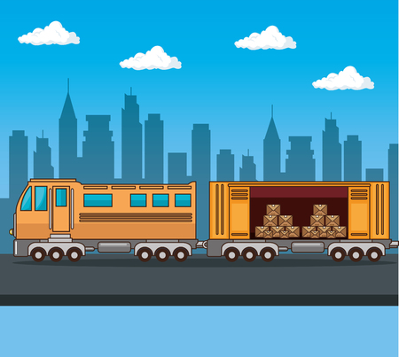 Transport de marchandises et livraison logistique infographique illustration vectorielle design graphique Banque d'images - 83177255