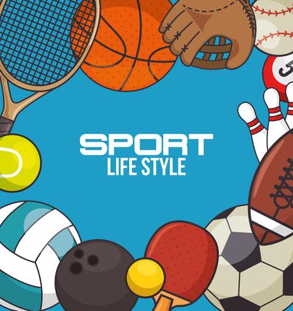 Sport equipment concept illustration vectorielle conception graphique Banque d'images - 83176550