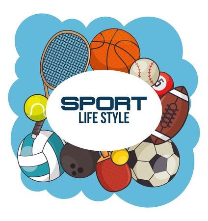 sport equipment concept  vector illustration graphic design Illustration