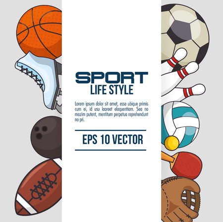 sport equipment concept  vector illustration graphic design Illusztráció