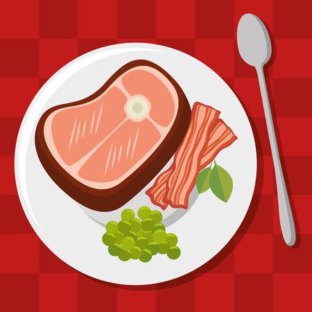 fresh and delicious lunch vector illustration graphic design Ilustração Vetorial