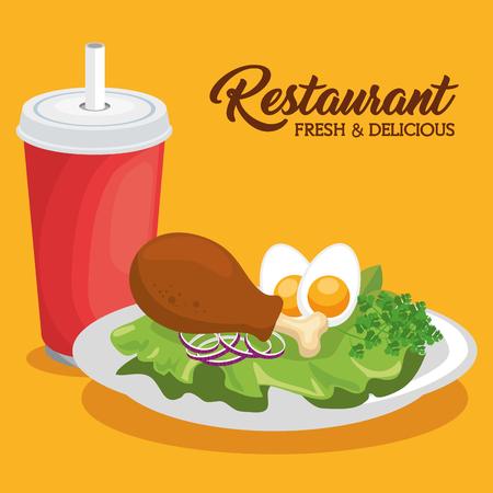 新鮮でおいしいランチ ベクトル イラスト グラフィック デザイン 写真素材 - 83177607