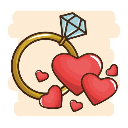 diamond engagement ring vector illustration graphic design Illusztráció