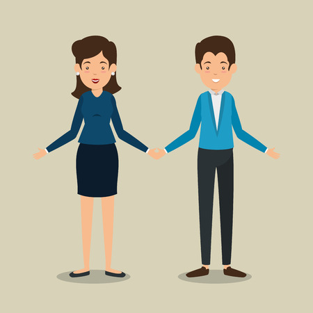 interactive business people communication vector illustration graphic design Illustration
