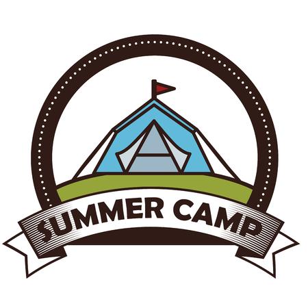 camping outdoor adventure emblem vector illustration graphic design