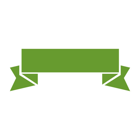 decorative ribbon banner over white background icon