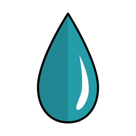 water drop icon over white background vector illustration Stock Vector - 83179979