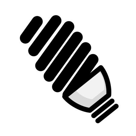 Icono de bombilla sobre icono de fondo blanco Foto de archivo - 83179981
