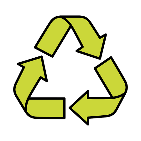 Recycle arrows symbol over white background icon Banco de Imagens - 83179765