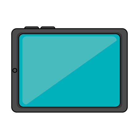 tablet device technology over white background icon