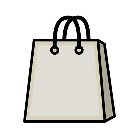 shopping bag icon over white background icon