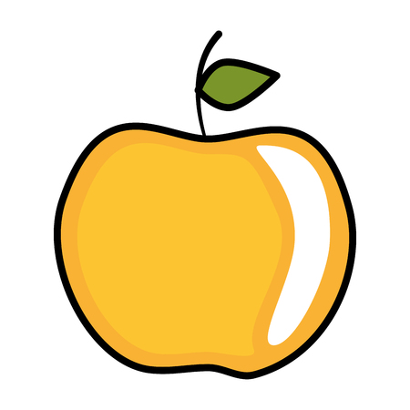 apple fruit icon over white background icon Stock Vector - 83179985