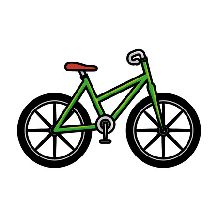 bicycle icon over white background vector illustration