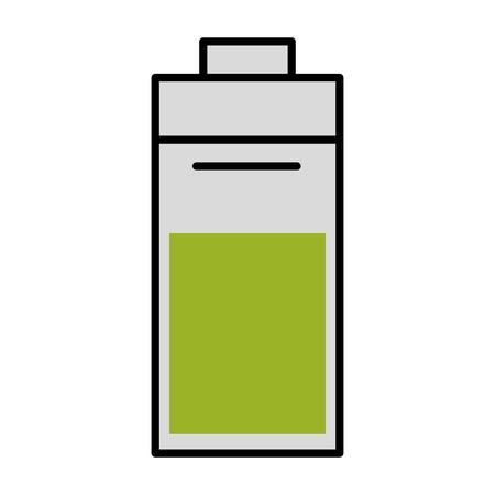 battery energy icon over white background symbol Illustration