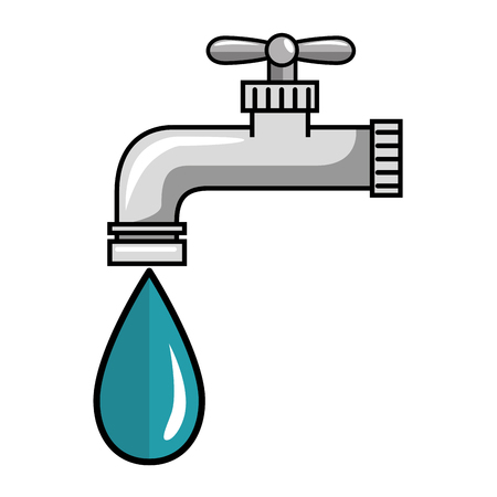 water faucet icon over white background icon