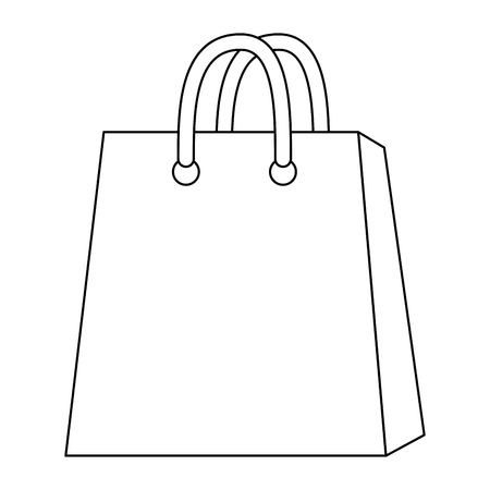 shopping bag icon over white background icon