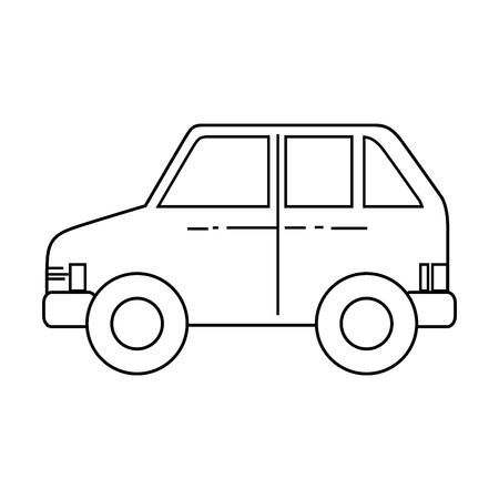 car vehicle transport over white background icon