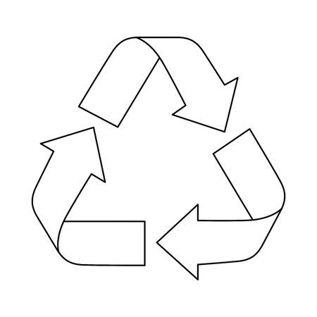 Recycle arrows symbol over white background icon Banco de Imagens - 83180304