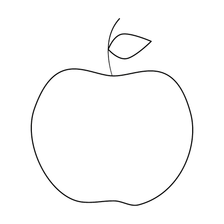 apple fruit icon over white background icon Illustration