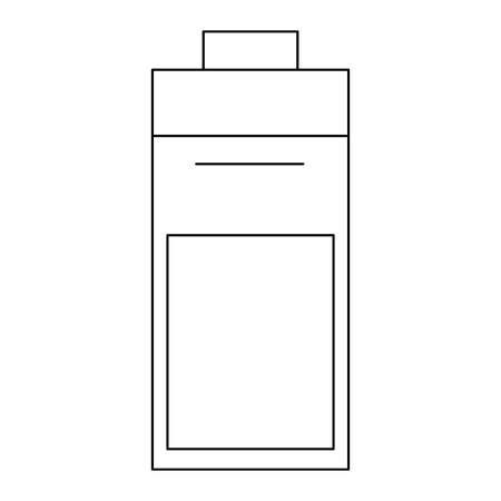 battery icon energy over white background icon