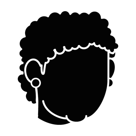 black family: Grandmother faceless cartoon over white background icon