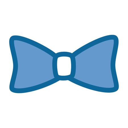 bow tie fashion over white background icon