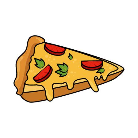 pizza pictogram afbeelding over een witte achtergrond afbeelding